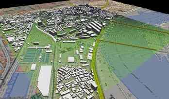 市街地での正確なモデル作成の図2