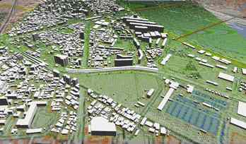 市街地での正確なモデル作成の図3