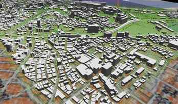 市街地での正確なモデル作成の図4