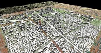 大阪市南部市街地での1.7km四方エリアでのモデル作成の図2
