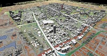 大阪市南部市街地での1.7km四方エリアでのモデル作成の図6