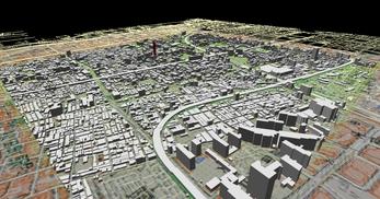 大阪市南部市街地での1.7km四方エリアでのモデル作成の図8