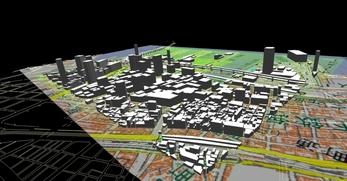 神戸市南部港地区での1.5km×1.3kmエリアでのモデル作成の図4