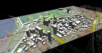 神戸市南部港地区での1.5km×1.3kmエリアでのモデル作成の図5