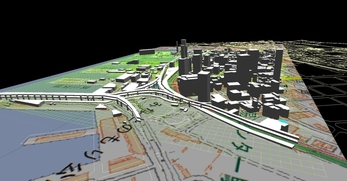 神戸市南部港地区での1.5km×1.3kmエリアでのモデル作成の図6