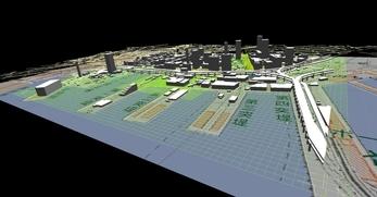 神戸市南部港地区での1.5km×1.3kmエリアでのモデル作成の図8