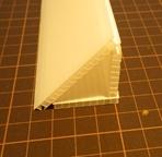 風切り音の消音対策に用いた三角棒